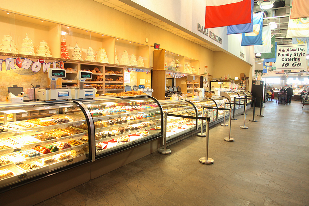 Calandra's Cafe bakery counter w/ pastries